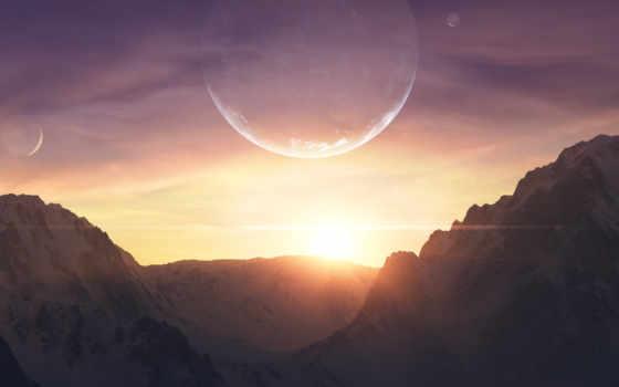 скалы, горы, fantasía