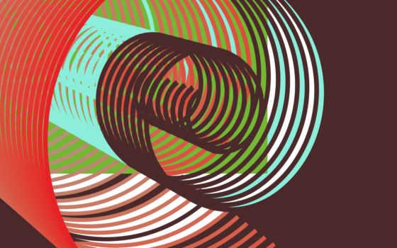 иллюзия, desktop, форма, абстракция, зелёный, line, images,