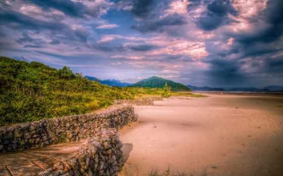 hdr, sao, paulo, landscape, небо, brazilian, oblaka, природа, изображение, пляж,