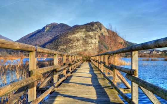 мост, wooden, desktop, full, free,
