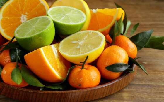 мандарины, лимоны, апельсины, лайм, фрукты, еда, цитрусы, оранжевый,