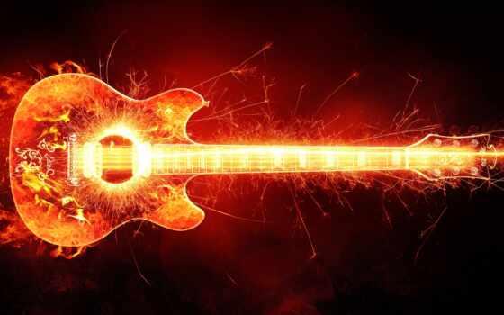 гитара, песнь, огонь, гитара, фото, human, картинка, formatı, website, слушать