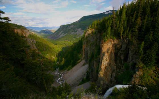 река, горы