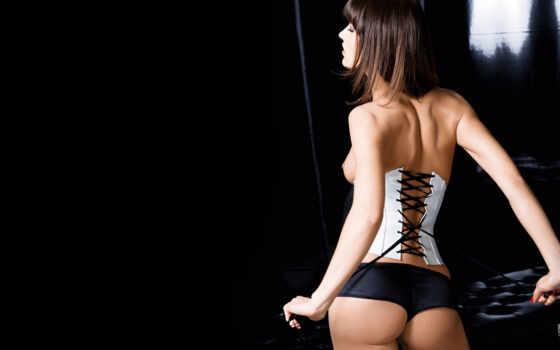 чулки, ass, девушка, corset, брюнетка, fiona, erdmann, dark,