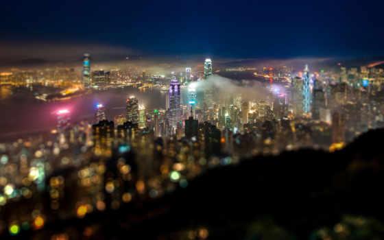 город, ночь, огни Фон № 103969 разрешение 1680x1050