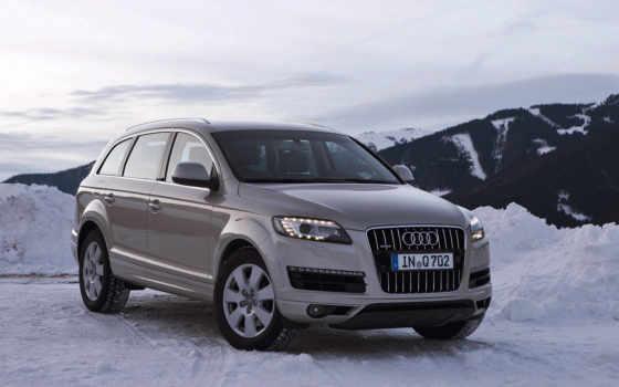 winter, ауди, car, снег, машина,
