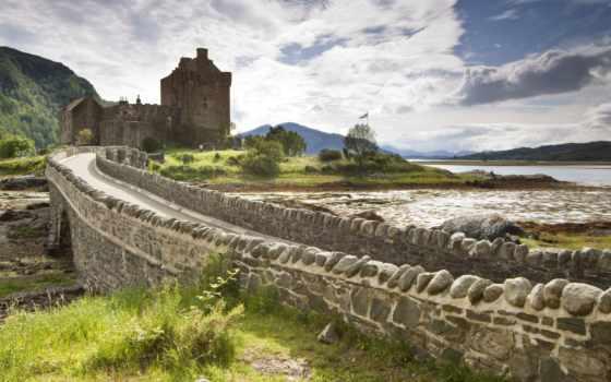 шотландия, dornie, landscape, castle, донан, eilean, scotia, замки, stock,