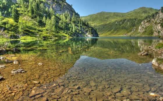 горы, австрии, альпы, duvar, austrian, природа, landscape, следы, по, интересные,