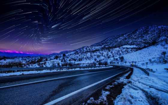 природа, дорога, winter, небо, ноутбук, android, https, ночь, groeni, телефон, закат