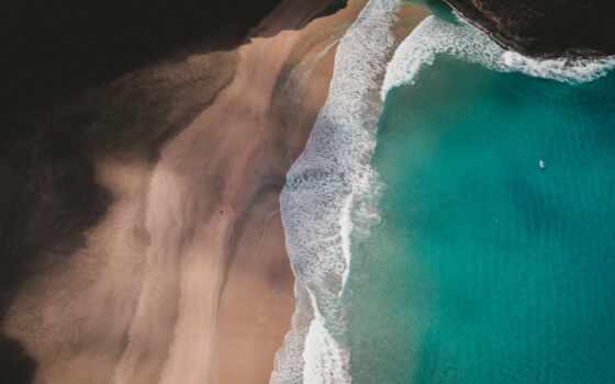 пляж, океан, сверху, вид, берег, priroda, знак, взгляд, vodyanoi, local, использование