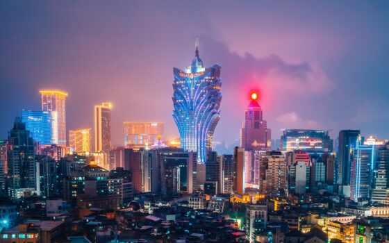 город, небоскрёба, мегаполис, ночь, many, огонь