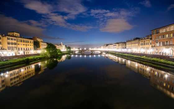 flickr, дома, италия, ночь, arno, мост, ago, флоренция,