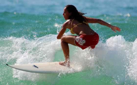 una, surf, chicas