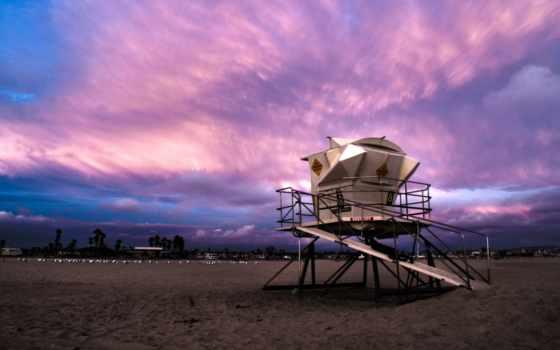 калифорния, пляж, картинка
