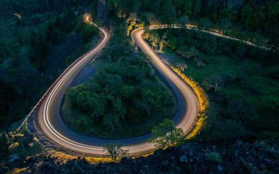 fondos, pantalla, noche, carretera, дорога, roads, лес, todo,