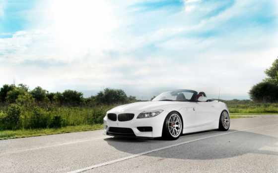 bmw, машины, авто, дорога, небо, трава, автомобили, roadster, white, design,