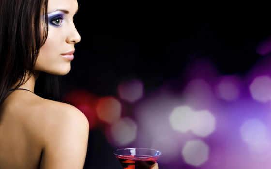 девушка, glass, бокалом, вина, devushki,