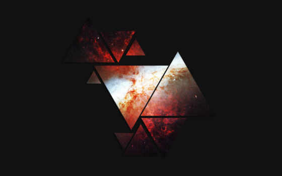 cosmos, dark, треугольники, фигуры,
