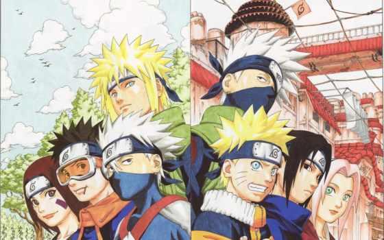 naruto, kakashi, anime, обито, команда, Сакура, учиха, sasuke, rin, art,