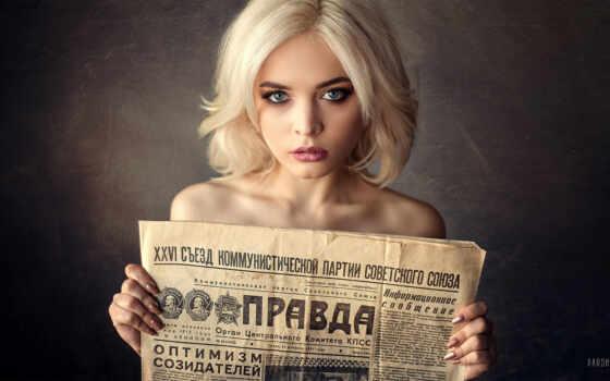 блонд, blonde, женщина, глаза, portrait