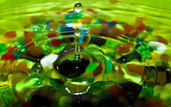 капля, вода