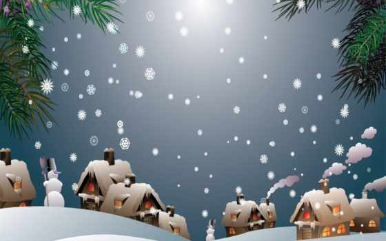christmas, village, snow, snowman, snowy, vector, winter, you, tuyệt, desktop,