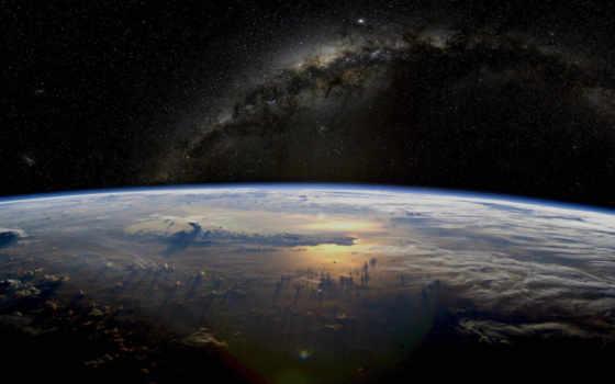 путь, млечный, galaxy, космос, land,