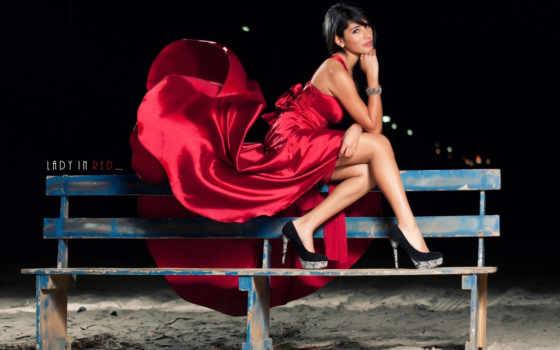 девушка, платье, сидит