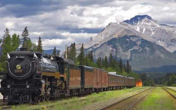 поезд, дорога, железная, поезда, горы, жд, потрясающие,