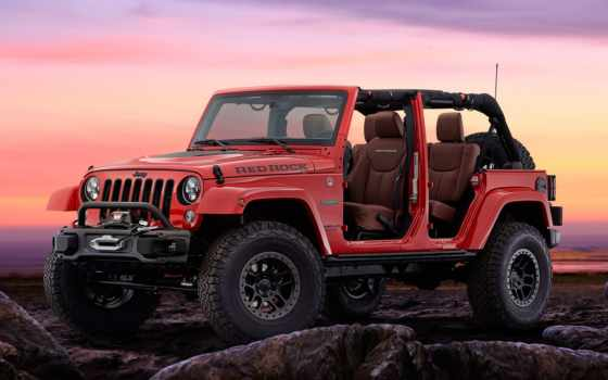 jeep, wrangler, red, rock, concept,