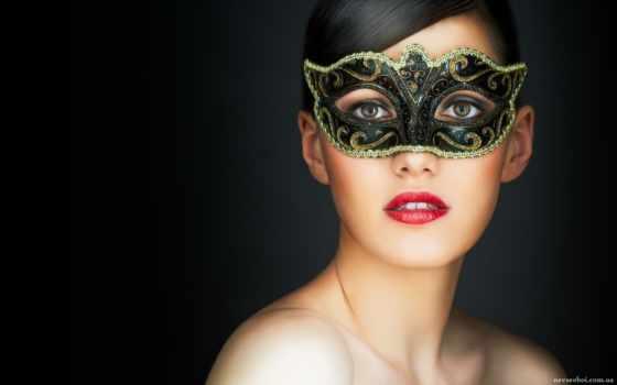 маске, красивая, маска