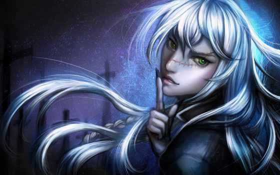 anime, art, волосы, kuroshitsuji, fantasy, devushki, девушка, шрам, sangrde, картинка,