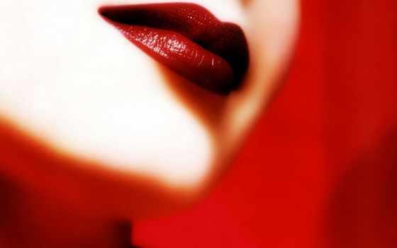 red, lips, плакат
