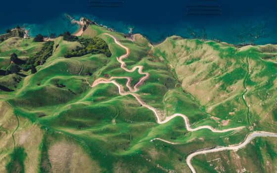 остров, new, zealand, business, urville, neuseeland, взгляд