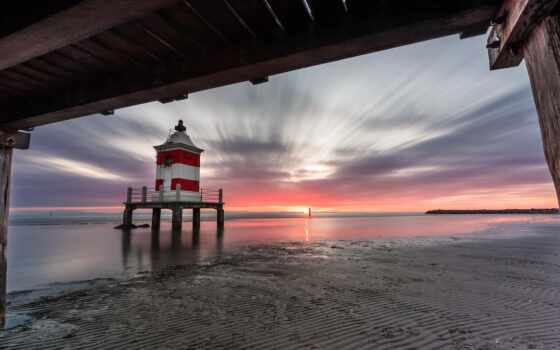 море, пляж, italy, устройство, lignano, landscape, lighthouse, данный, пейзаж, берег, сделать