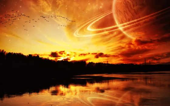 kosmos, planeta, more
