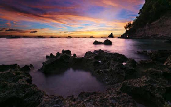 boracay, остров, закат
