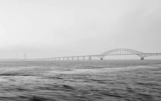 мост, туман, desktop