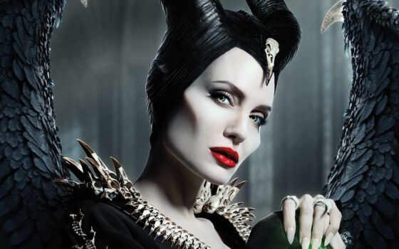 malefisent, maleficent, see, рогатый, black, angelina, cosplay, маска, плакат