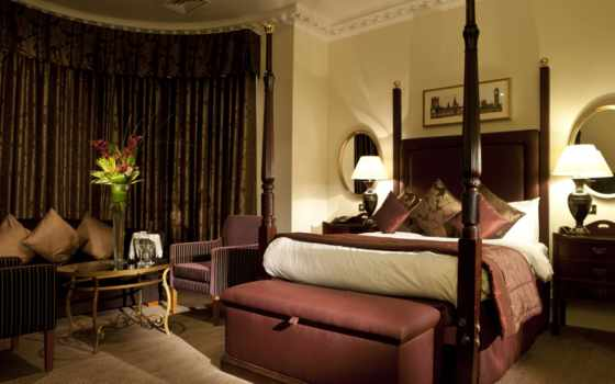 спальня, кровать Фон № 18115 разрешение 1920x1200