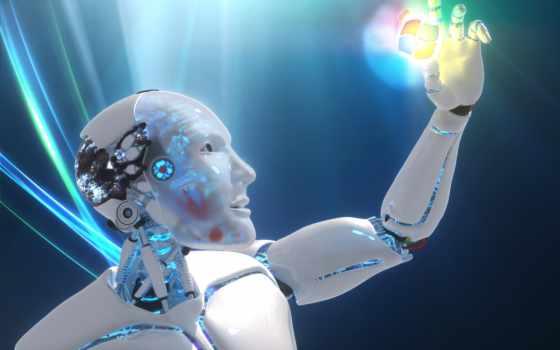 технологии, информационные, windows, robot, logo, рука, свой,