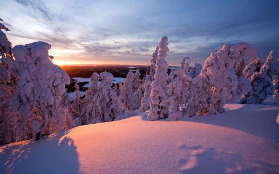 ecran, fond, neige, финляндия, hiver, fonds, high,