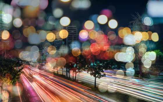свет, mural, ночь, дорога, exposure, concrete, огни, стена, скорость, серый, traffic