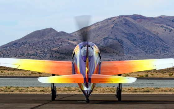 аэроплан, оранжевый