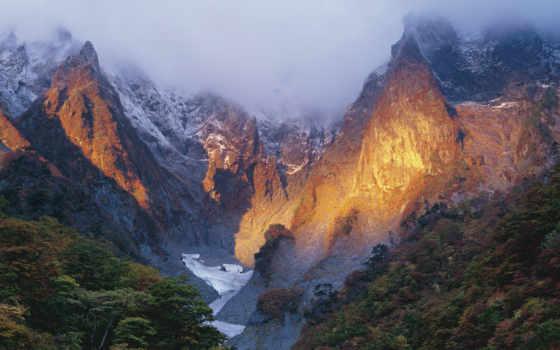 япония, winter, mount