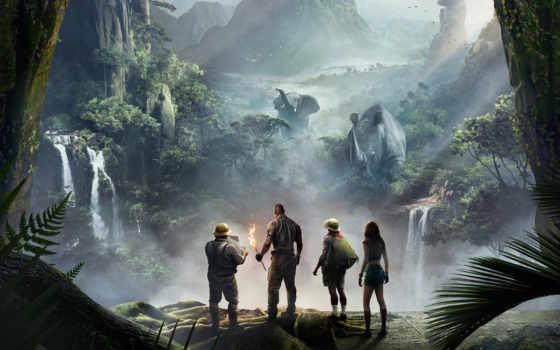 jumanji, jungle, пожаловать, джуманджи, колл, джунглей, trailer, new, ан,