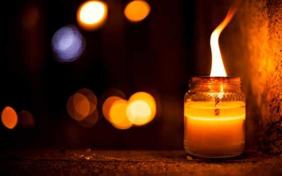 свеча, side, ночь, flare, фотонатюрморт, different, пламя, effect, осень