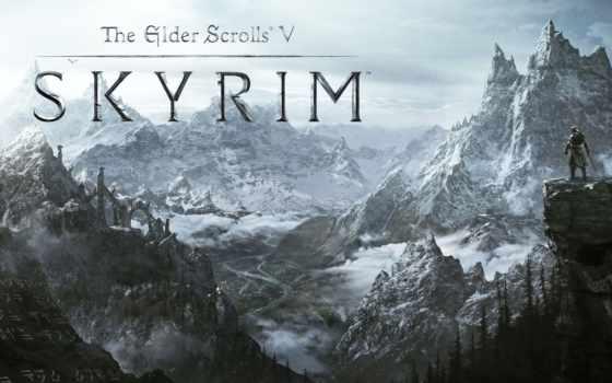skyrim, долина, горы, снег, дувакин, scrolls, elder, скайрим,