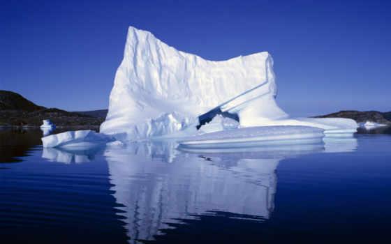 айсберги, ледники