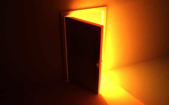 дверь, svet, двери, чтобы, открытой,